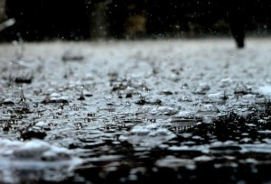 heavy rain creates puddles and saturates the ground causing septic problems